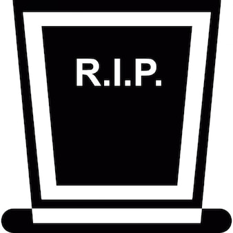 Rip on headstone for Halloween