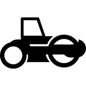 Road roller tractor
