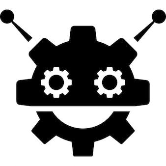 Robocog logo of a robot with cogwheel head shape