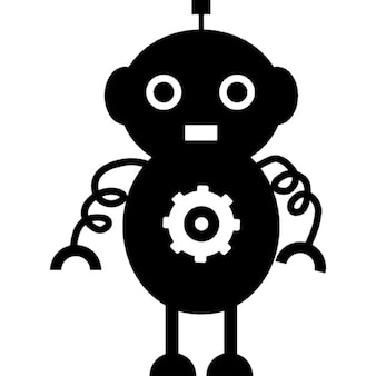 Rounded robot design with spirals arms