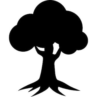 Royal oak homes logo of tree silhouette