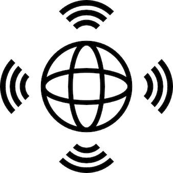 Satellite transmission, IOS 7 interface symbol Icons