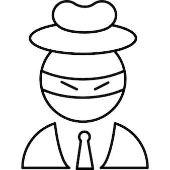 Scarecrow head wearing business attire