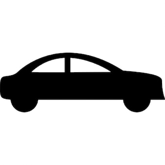 Sedan car side black silhouette