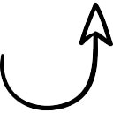 Semicircular up arrow