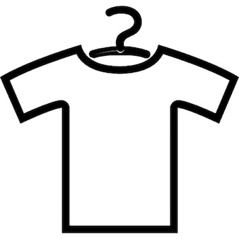 Shirt outline with hanger