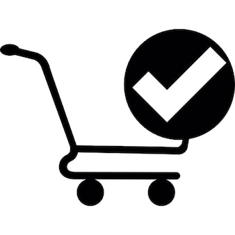 Shopping cart confirmation interface button