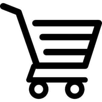 Shopping cart of horizontal lines design