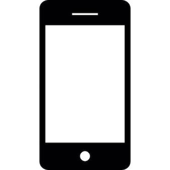 白い画面でスマートフォン