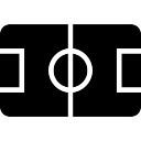 Soccer court top view black sportive symbol