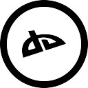 Social deviantart in circular button