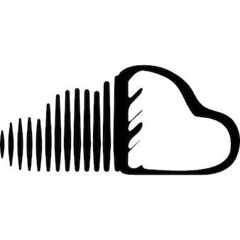 Soundcloud sketched logo