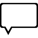 Speech bubble outline of rectangular shape