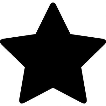 Star of five points in black