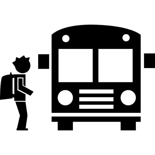 Student travelling by bus