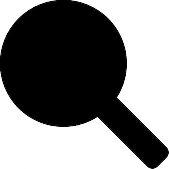 Table tennis racquet or rattle musical instrument black silhouette shape