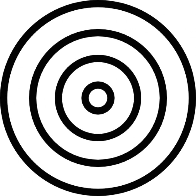 Target concentric circles outline