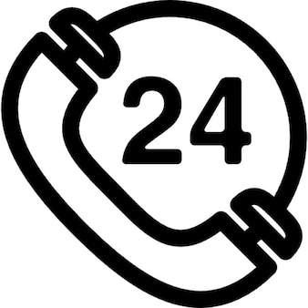Telephone 24 hours sign