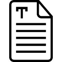 Text document interface symbol of stroke with lines