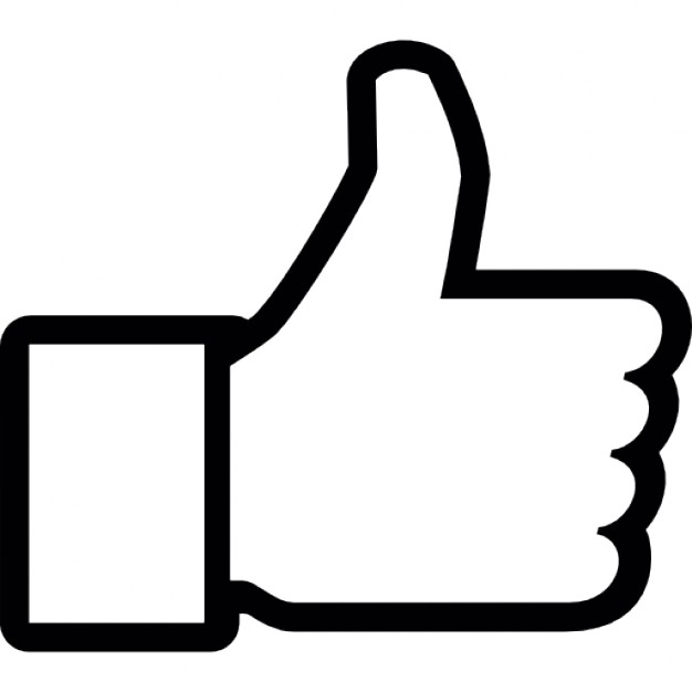 Thumb up to like on Facebook