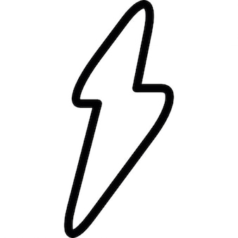 Thunderbolt outline