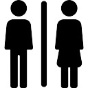 Toilet sign. Toilet man women Icons   Free Download