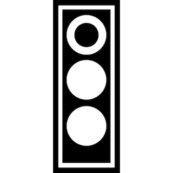 Traffic light in red signal