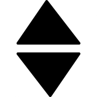 Triangles forming arrow up and down