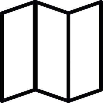 Triple folded paper