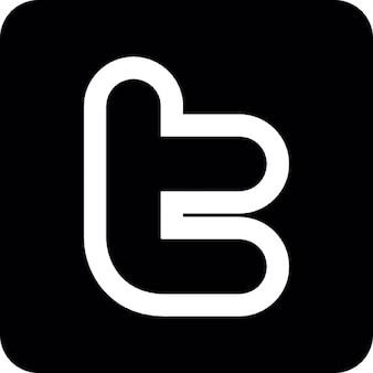Twitter social symbol