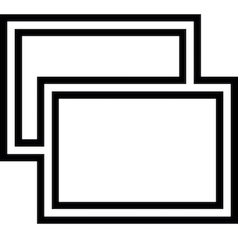 Overlapping Round Cornered Rectangles Icons Free Download