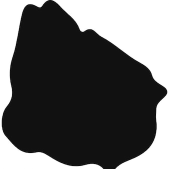 Uruguay black country map shape