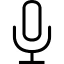 Voice microphone outlined interface symbol