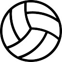 Volleyball ball outline