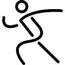 Walker or runner sportive stick man