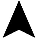 Walking triangular arrow interface symbol