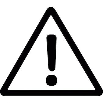 предупреждающий сигнал треугольной
