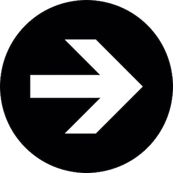 White arrow to the right with black background