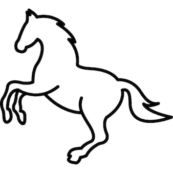 Horse Outline on race horse cartoon