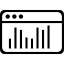 Window with bars graphic interface symbol