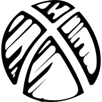 Xboxのロゴをスケッチ
