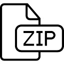 Zip compressed file outlined interface symbol
