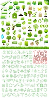 {with the environmentally friendly  green} vector material