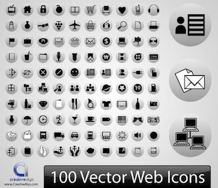 100 Blck & Grey Web Icons