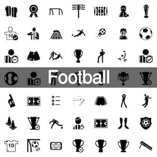 160 Football icons pack