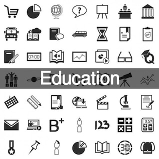 199 Education icon set