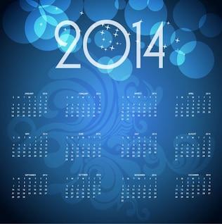 2014 blue calendar vector