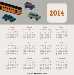 2014 Calendar Travel Cars Design