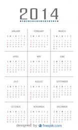2014 Calendar with Minimalist Design