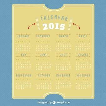 2015 Retro calendar